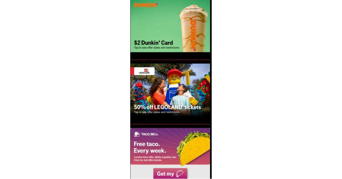 FREE 2 Dunkin' Card & Taco Taco Bell, Discounts & More
