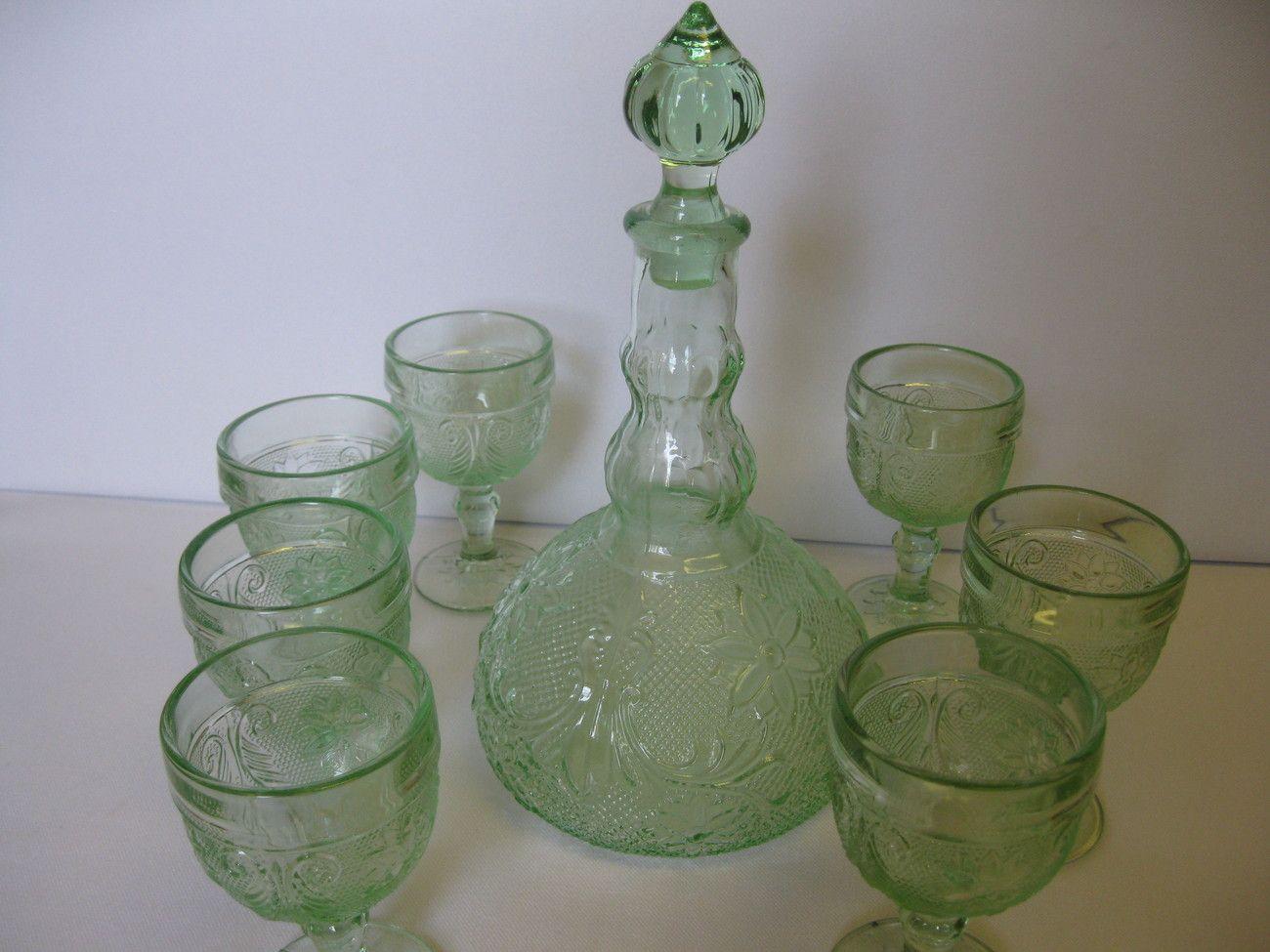Mid Century Modern Cocktail Glasses   Vintage Libbey Nordic Glasses   Set  Of 7   Turquoise   White   Green   Rocks Glasses   Mad Men Barware |  Pinterest ...