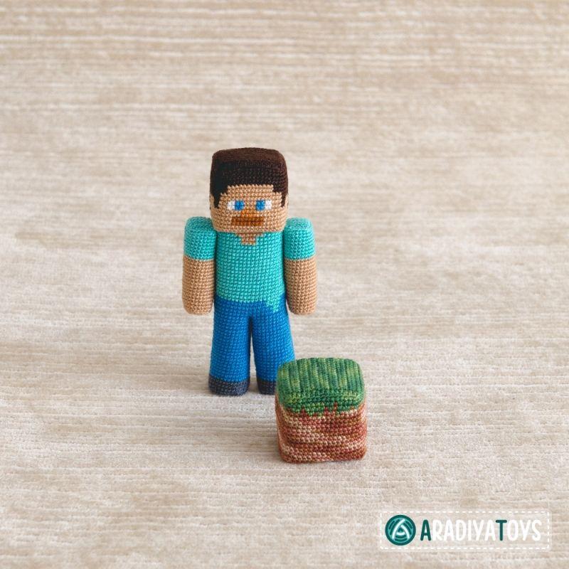 Patrón Amigurumi Steve de Minecraft - YouTube | 800x800