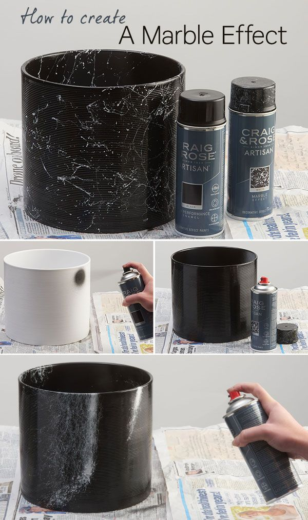 Modernise Your Accessories And Add Some Rich Detail Into Your Home By Introducing A Marble Effect The Spray Paint Furniture Craig And Rose Paint Marble Effect
