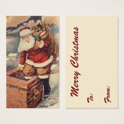 Vintage christmas victorian santa claus chimney business card vintage christmas victorian santa claus chimney business card xmas christmaseve christmas colourmoves