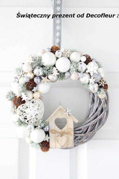 Photo of Begrüßt den Advent mit einem Kranz an der Tür – Weihnachtskranz basteln,  #Advent #Basteln #B…