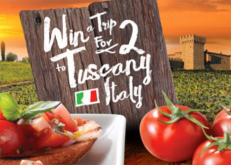 Enter to Win a Culinary Trip for Two To Tuscany!