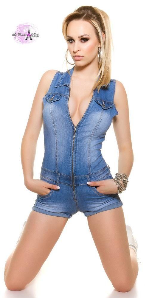 7bd2ca83e721 Mono ajustado corto vaquero | Monos cortos de moda | Mono ajustado ...
