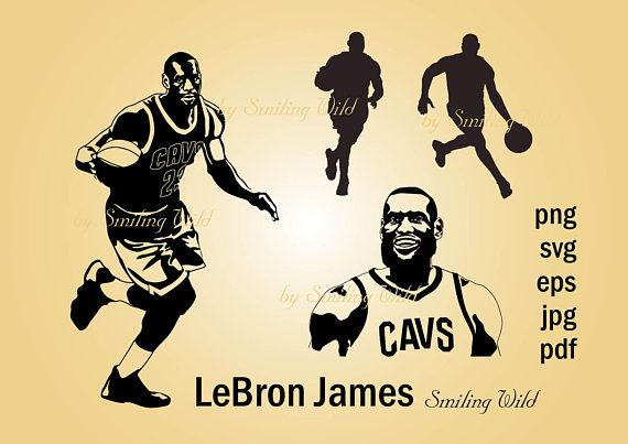 lebronart james cavs art design silhouette basketballart player