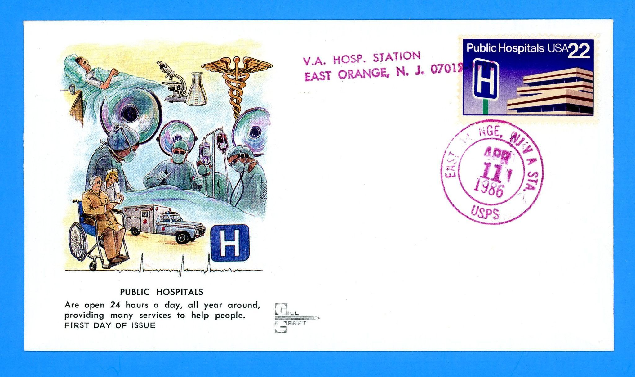 Public Hospitals First Day Cover by Gill Craft