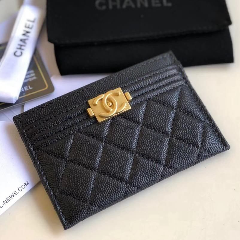 a6001a006a9 Chanel Caviar Calfskin Boy Chanel Card Holder Black 2018. Chanel Coco Bags  for Sale  Chanel Boy Chanel Card Holder 100% Authentic 80%