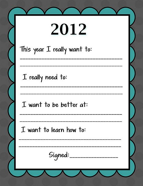 Kid Friendly New Year S Resolution Printable Family New Years Eve New Years Resolution Kids New Years Activities