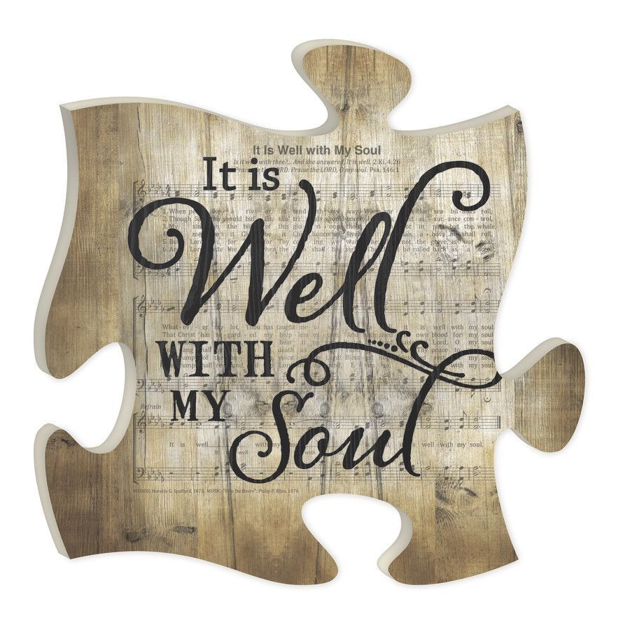 It Is Well With My Soul Puzzle Piece It Is Well With My Soul Puzzle Piece Art Puzzle Piece Crafts