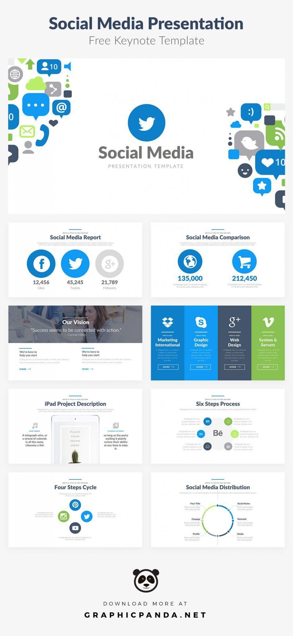 Free Social Media Keynote Template | Free Keynote Templates ...