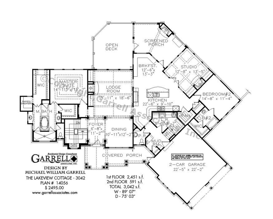Lakeview Cottage 14056 3042 Garrell Associates Inc Craftsman Style House Plans Mountain House Plans House Layout Plans