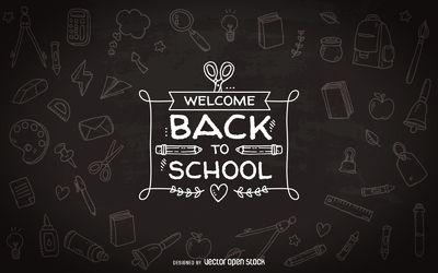 Back to school chalkboard badge