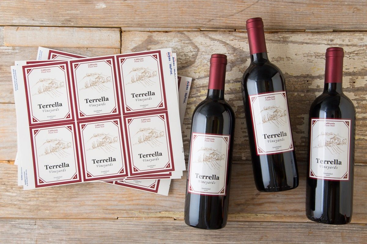 Create Custom Labels For Bottles And More With Avery Weprint An Online Professional Printing Service Custom Labels Online Printing Services Printing Services