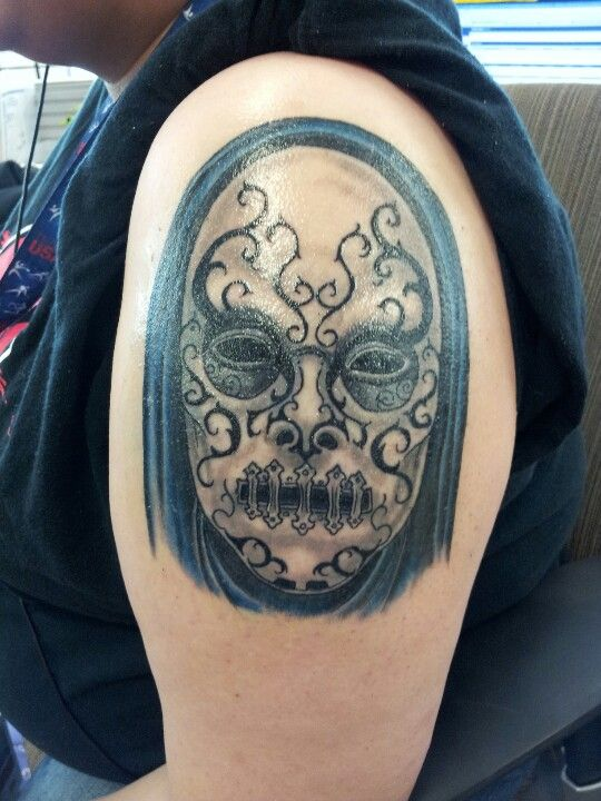 Bellatrix lestrange deatheaters mask artist curtis for Tattoo oklahoma city ok