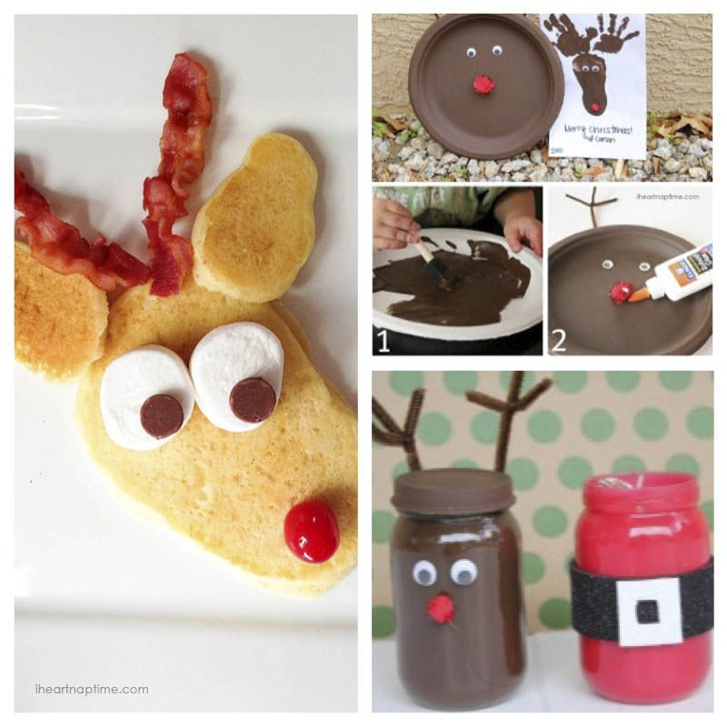 Christmas Eve Craft Ideas Part - 33: Rudolph Pancakes And Reindeer Craft Ideas I Heart Nap Time | I Heart Nap  Time -