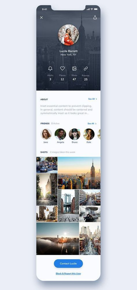 20+ Mobile App Profile Screen UI Design [Updated] - OnAirCode