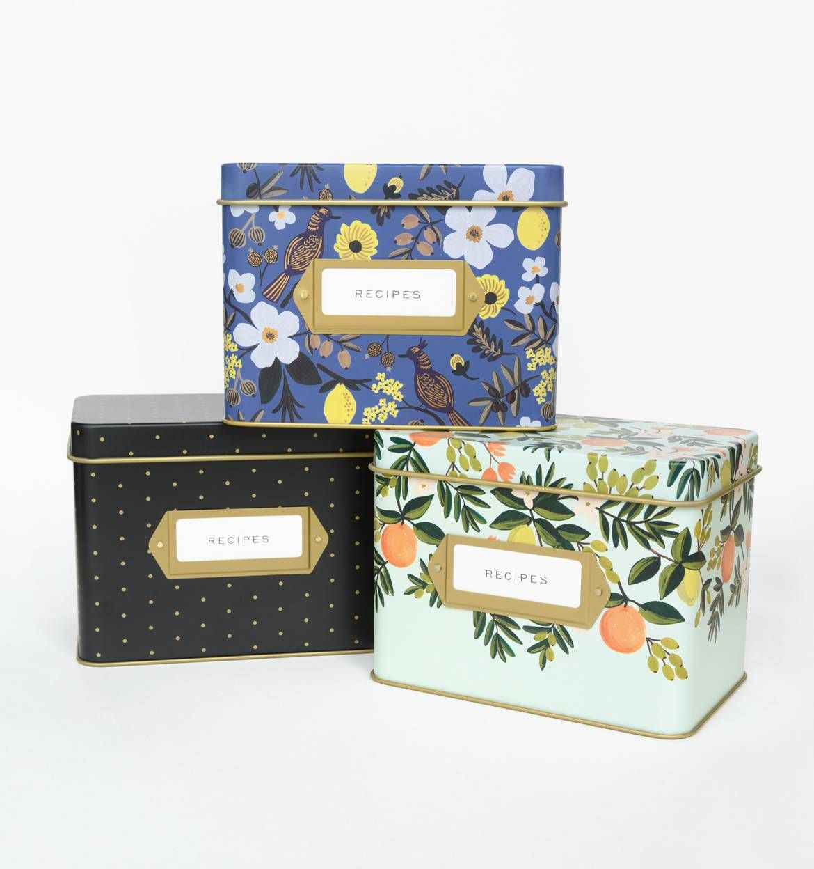 Recipe boxes from rifle paper co citrus floral design keep recipe boxes from rifle paper co citrus floral design keep extra cards in thecheapjerseys Images