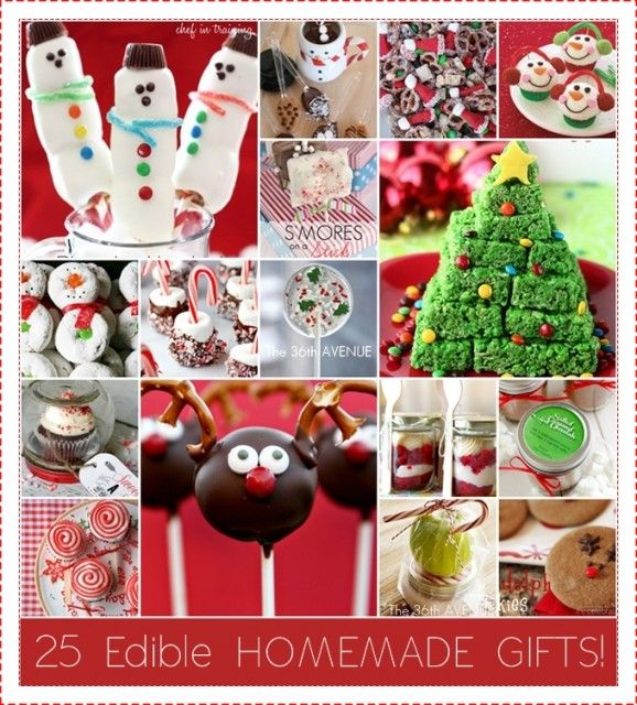 Amazing Christmas Snack Gift Ideas Part - 2: 25 Edible Homemade Christmas Treats At The36thavenue.com Delicious And  Adorable!