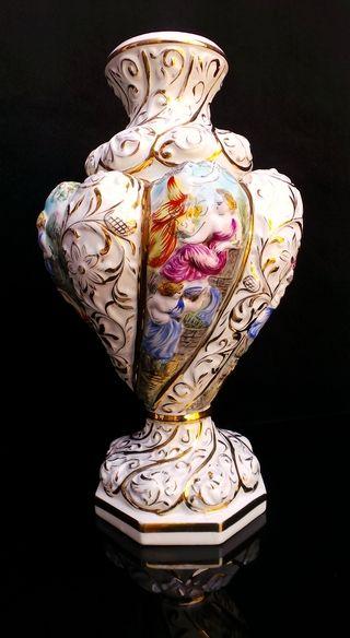 Huge Capodimonte Urn Vase Vase Pinterest Urn Porcelain And Teapot