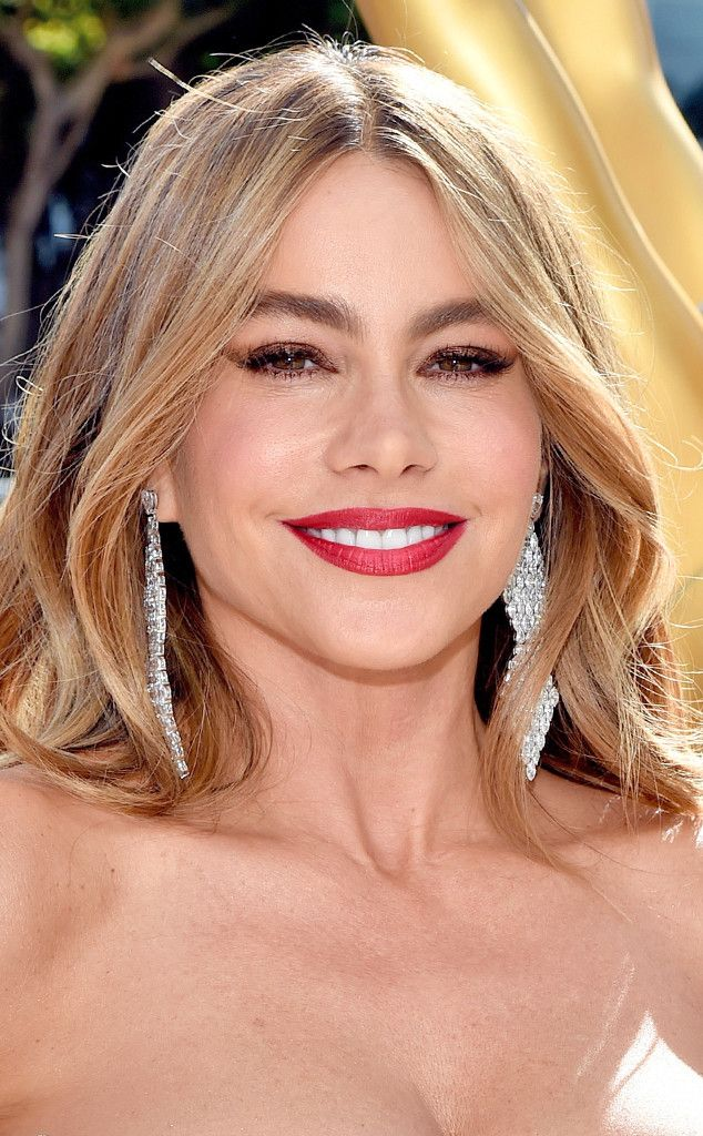de539c2eb101a Sofia Vergara from Celeb Lipsticks  What Stars Are Wearing On Their Pouts  Would you expect anything less than a perfectp out from Sofia