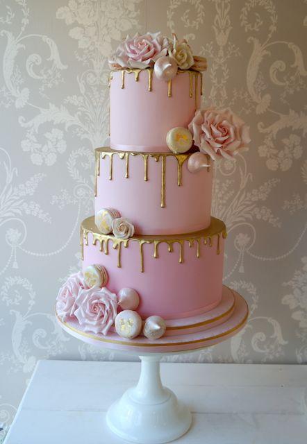 Pink And Gold Bridal Shower Baby Shower Cake Torte Per Festa
