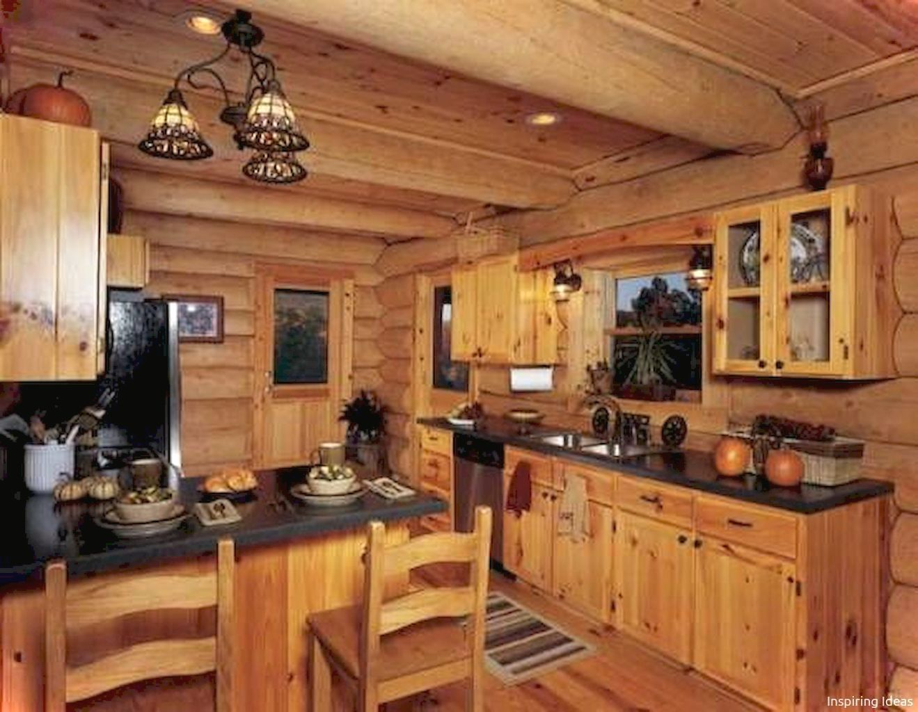035 Gorgeous Cottage Kitchen Small Cabin Ideas in 2019 ... on Rustic:mophcifcrpe= Cottage Kitchen Ideas  id=82848