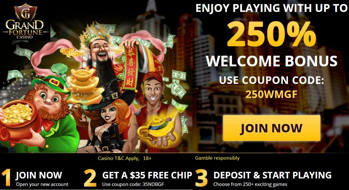 Grand Online Casino Coupon Code