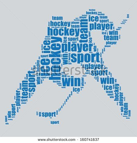 Hockey Typography 3d Text Word Art Hockey Vector Illustration Word Word Cloud Art Free Word Art Hockey