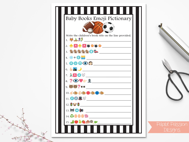 Sport Emoji Baby Books Game, Black and White Referee