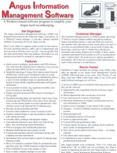 Angus Information Management Software Information