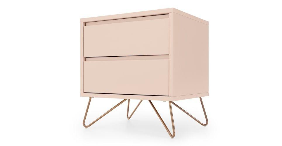 Elona Bedside Table Dusk Pink Girl Bedside Table Pink Bedside