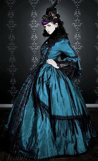 I like the use of tule and lace with a plain blue color. it keeps it ...