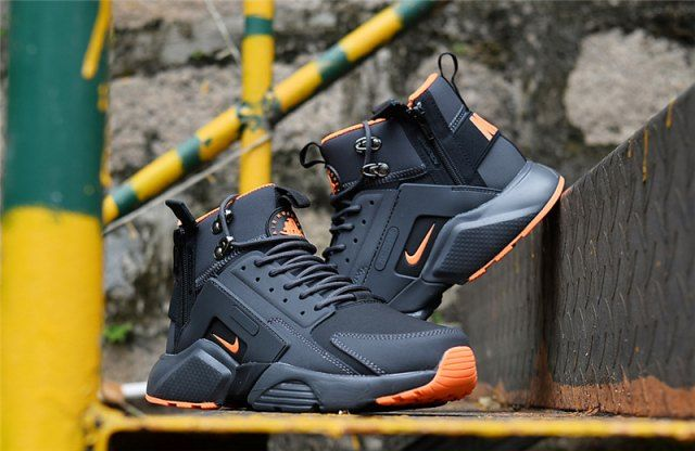 0b49627d4331 New Arrival NIke Huarache X Acronym City MID Leather Winter Men s Running  Sports Shoes Carbon   Orange