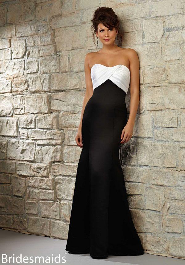 Simple Long satin mermaid dress. Two-tone 3c2d3b56163c