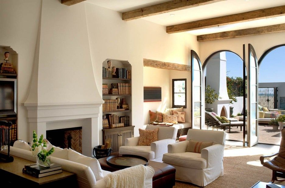 Beau ... California, This Mediterranean Style Home Is A Beautiful Waterfront  Paradise. The Interior Design Of This Spanish Colonial Beach House ...