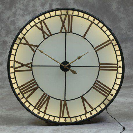Large Big Ben Wall Clock Westminster Lights Up Glass Extra Large Wall Clock Big Wall Clocks Wall Clock
