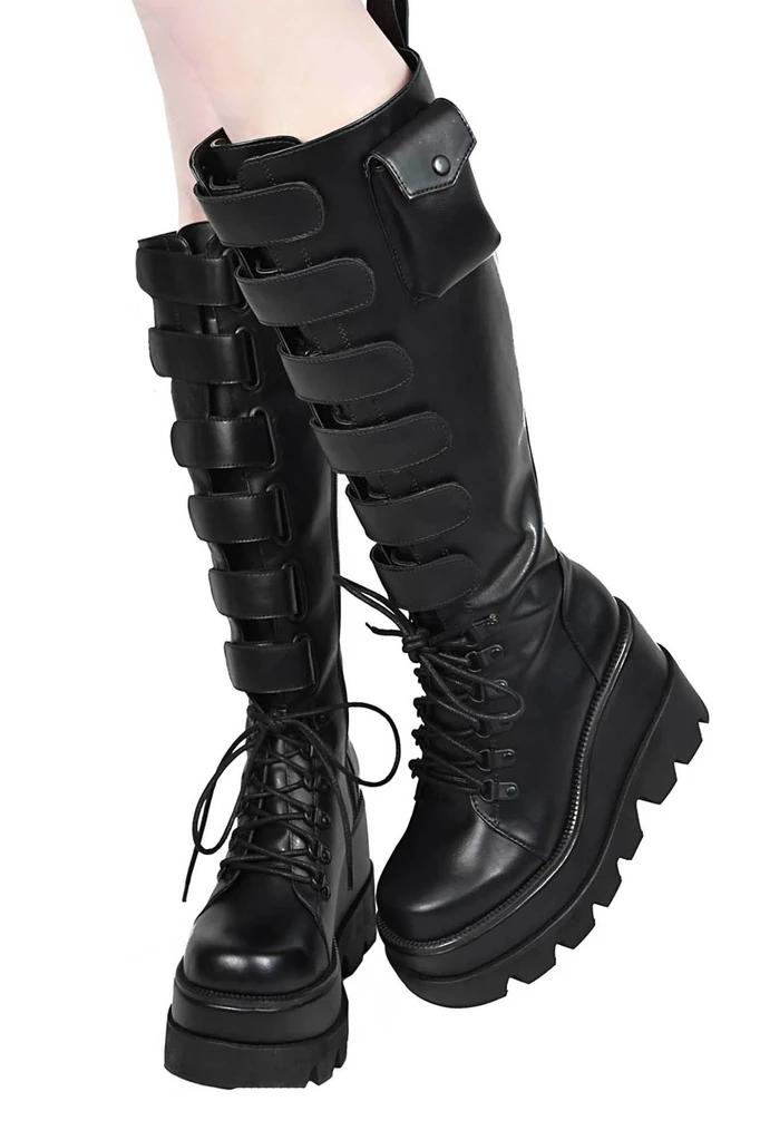 Gothic boots, Boots, Punk shoes