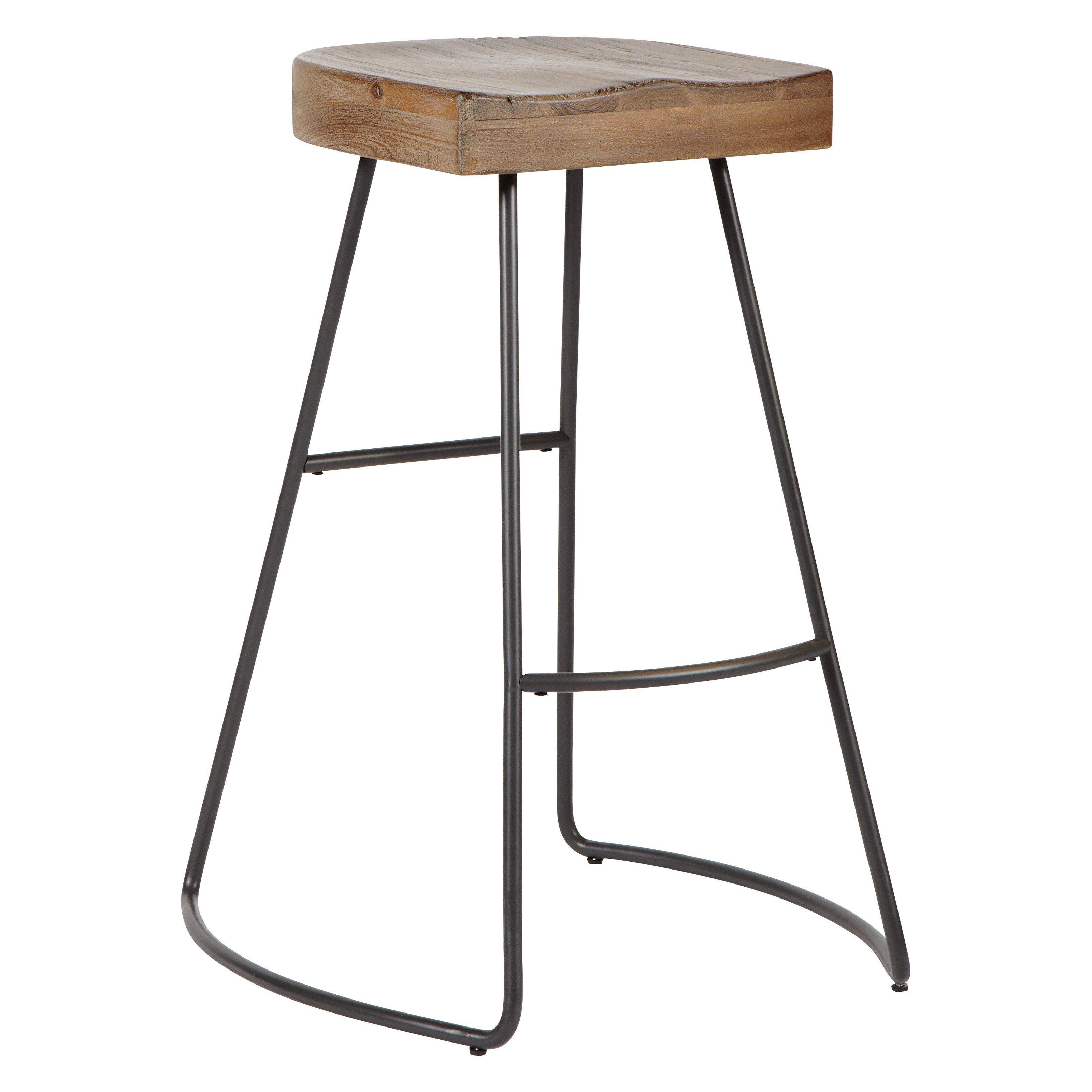 Avalon Furniture Saddle Seat Barstool