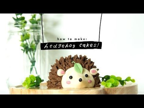 how to make a hedgehog cake | vegan #hedgehogcake