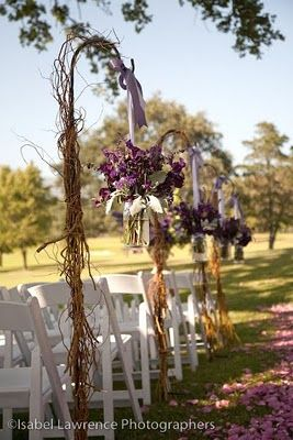 shepherd hook with decorations that look beautiful for weddings!