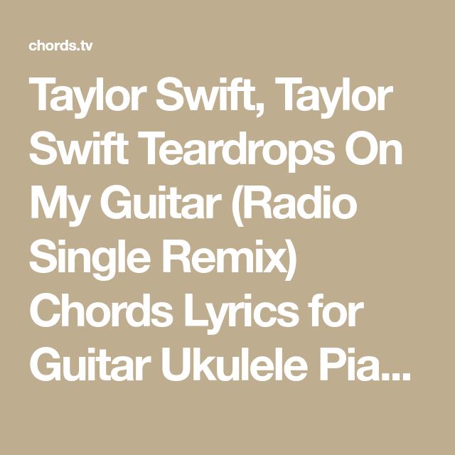 Taylor Swift, Taylor Swift Teardrops On My Guitar (Radio Single ...