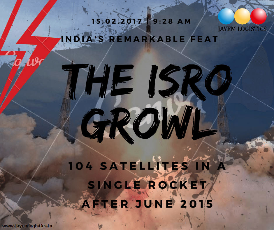 Kudos India S Space Agency Isro Launched A Record 104 Satellites On A Single Rocket From The Sriharikota Spaceport In Andhra Logistics Satellites Supply Chain