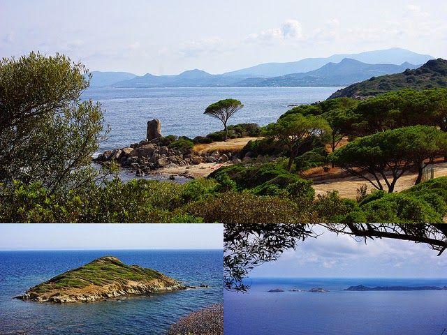 La Sardaigne bleue sauvage et magnifiques quelques cartes postales