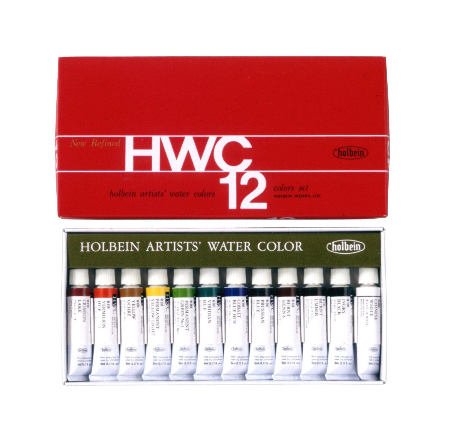 12 Color Set Holbein Transparent Watercolors Watercolor Paint
