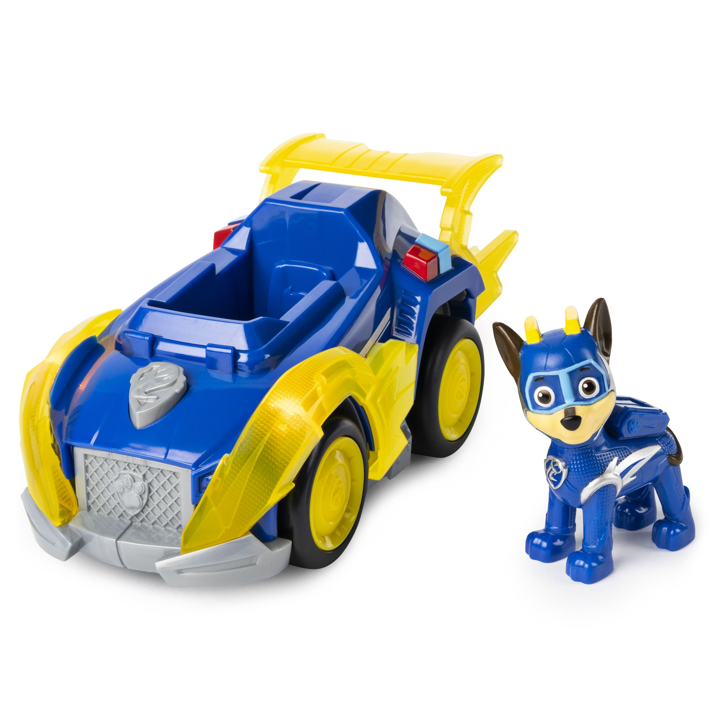 Paw Patrol Mighty Pups Super Paws Chase S Deluxe Vehicle With Lights And Sounds Walmart Com Paw Patrol Toys Chase Paw Patrol Paw Patrol
