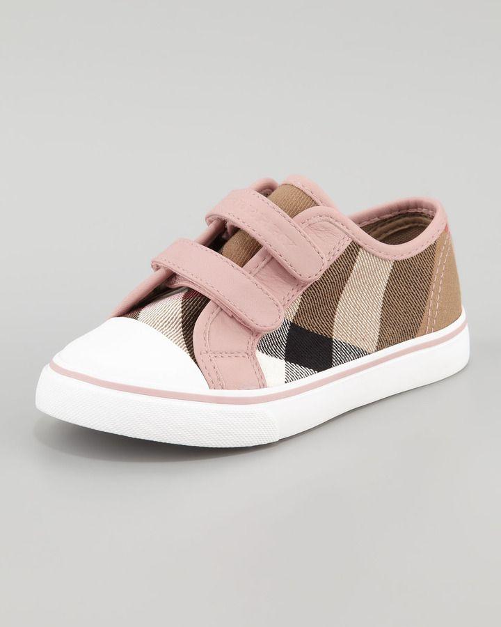 Burberry Check Double-Strap Sneaker