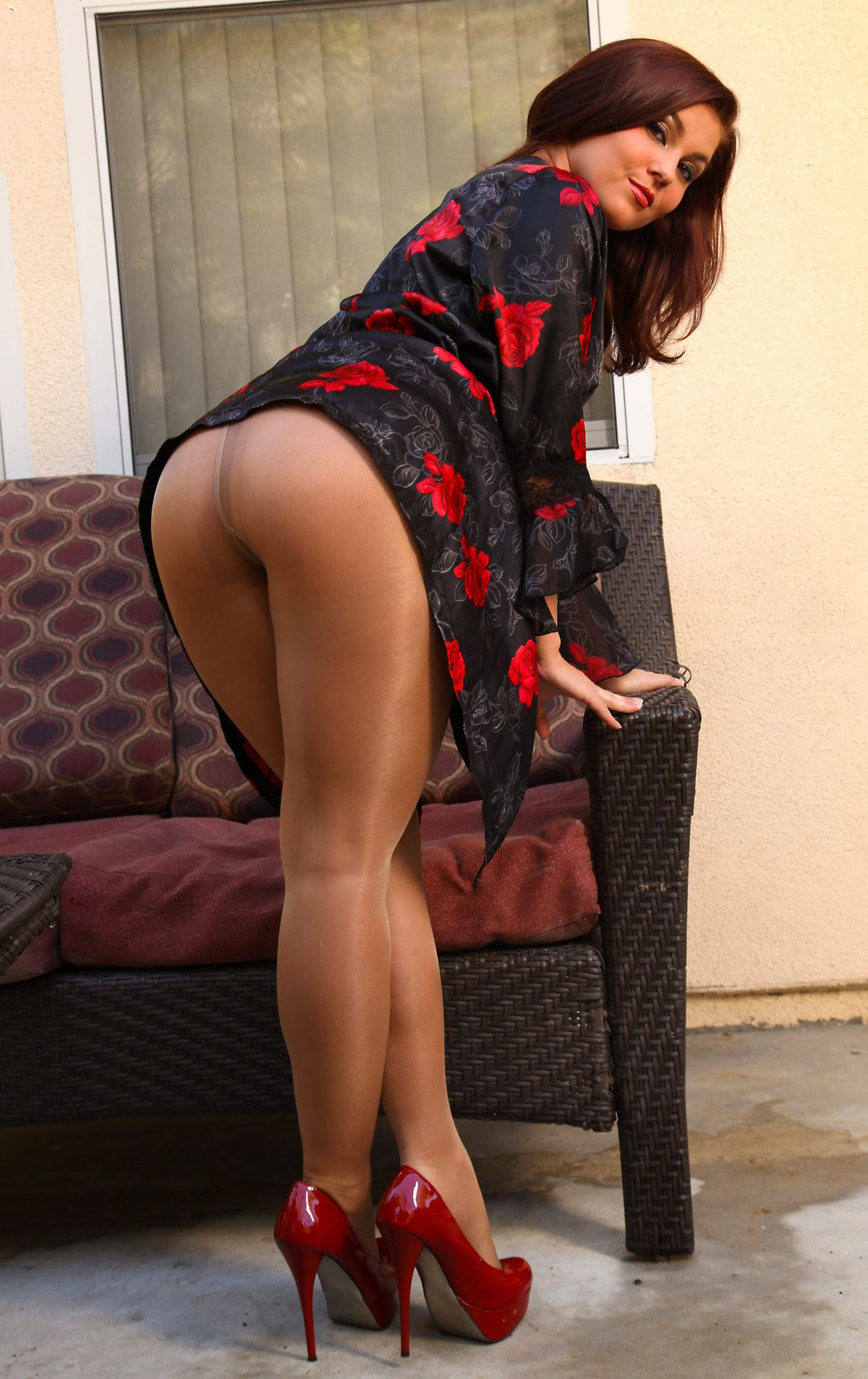Pantyhose rear view