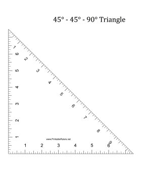 This Printable Triangle Has Two 45 Degree Angles And A 90 Degree