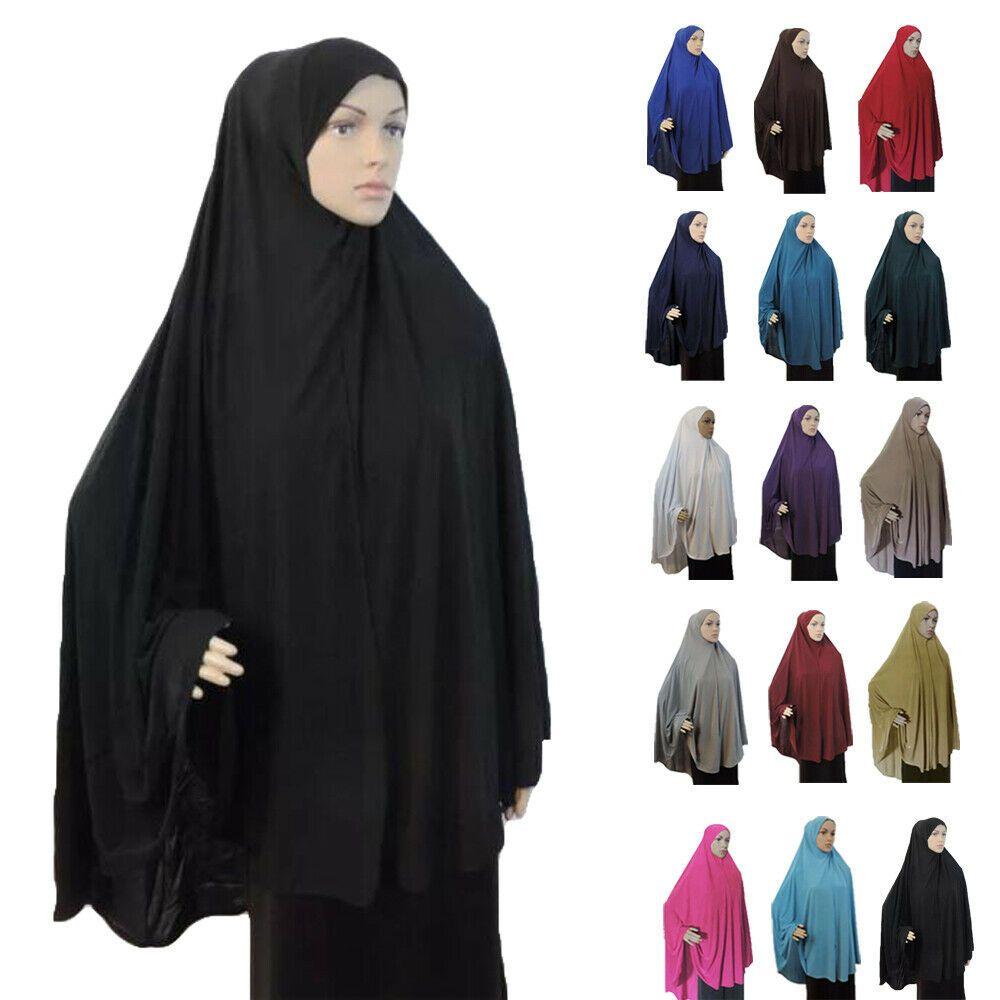 Dubai Women Muslim Hijab Large Overhead Dress Islamic Prayer Clothing Ramadan
