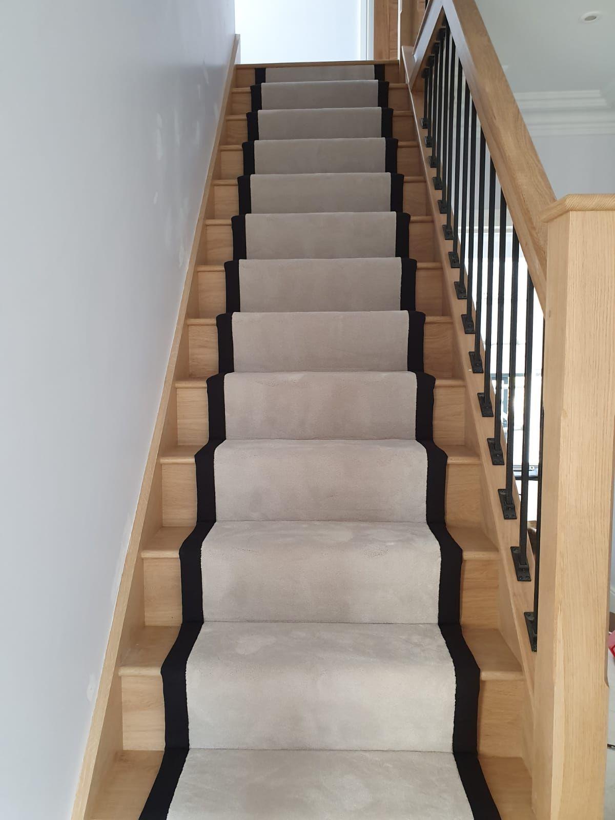 White Carpet Runner Fitted In Balham White Carpet Carpet Runner